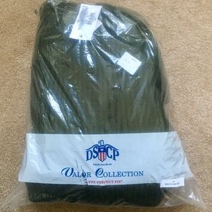 Mens Olive Green Wool Military Hunting Sweater NWT
